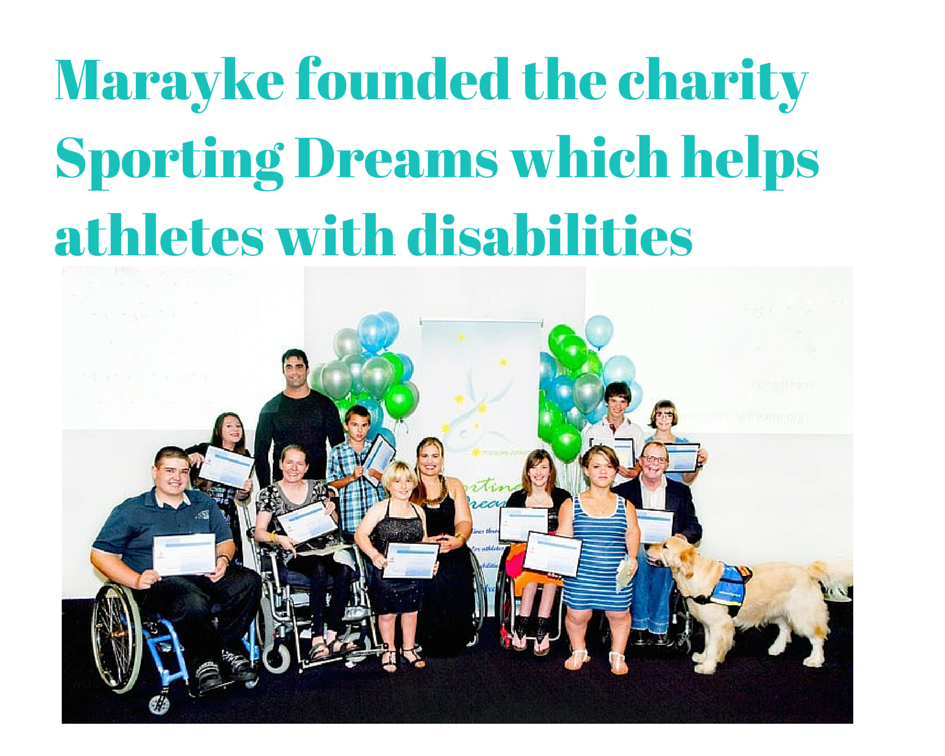 Marayke founded the charity Sporting-2