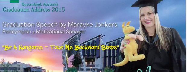 "Graduation address ""be a kangaroo -take no backward steps"""